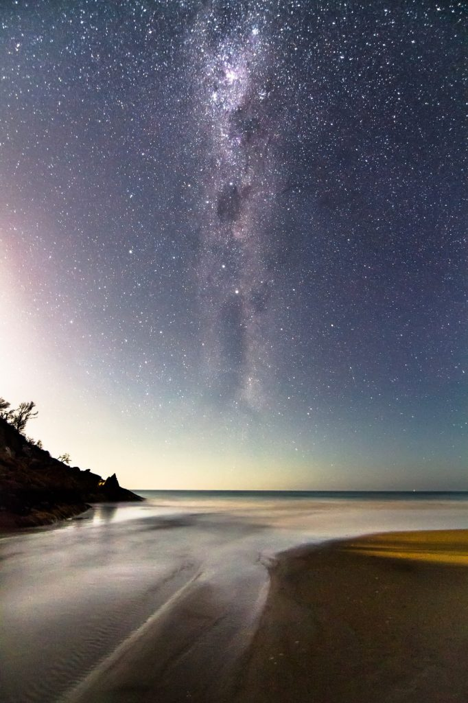 Milky Way and Endless Stars Over the Ocean in Australia
